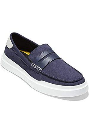 Cole Haan Herren Grandpro Rally Canvas Penny Loafer Sneaker, Marineblaue Leinwand/Optik