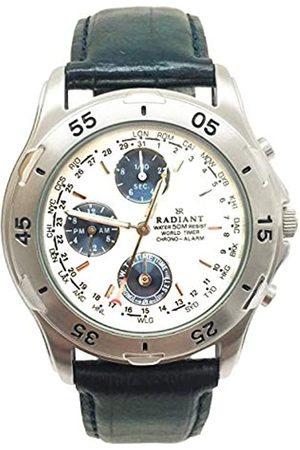Radiant Herren Datum klassisch Quarz Uhr mit Leder Armband RV0002