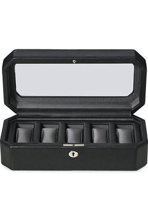 Wolf Herren Uhren - Windsor 5 Piece Watch Box Black/Grey