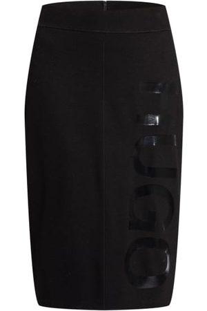 HUGO BOSS Damen Bleistiftröcke - Jerseyrock Narinara schwarz