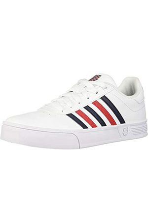 K-Swiss Damen Court LITE STRI Sneaker, (White/Corporate 113)