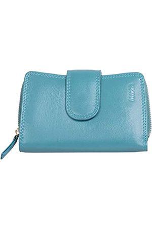 Mika 80022521 - Damengeldbörse aus Echt Leder, Portemonnaie im Hochformat, Geldbeutel mit 9 Kreditkartenfächer, 2 Scheinfächer und doppeltes Münzfach, Brieftasche in, ca. 13,5 x 9,5 x 3