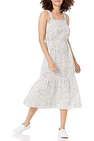 Amazon Relaxed Fit Fluid Twill Tiered Midi Dress Kleid