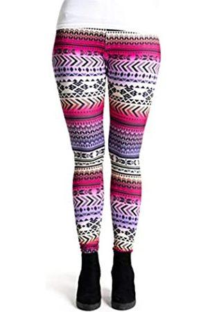 cosey Damen Bedruckte Bunte Leggings