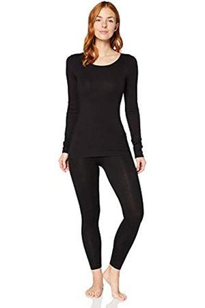 IRIS & LILLY Damen Extrawarmes Thermo-Unterhemd mit Langen Ärmeln (Black), XL