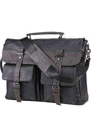 seyfocnia Leder-Kuriertasche für Herren, Klassische Lederlaptoptasche 15.6 Zoll, Business- Schultertasche Aktentasche, Laptoptasche
