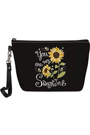 """Mumeson Kosmetiktasche mit Sonnenblumen-Aufdruck """"You Are My Sunshine"""" für Damen und Mädchen, Kosmetiktasche"""
