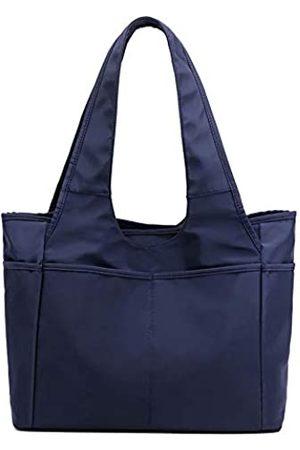 Lavogel Multi-Pocket Tote Schultertasche Multifunktionale Nylon Schulter Handtasche Reise Geldbörse Taschen für Frauen, (01-dunkelblau)
