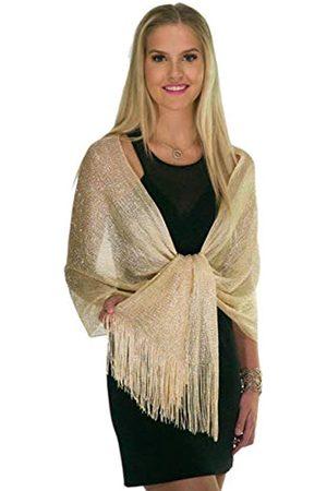 ShineGlitz Schal und Wraps für Abendkleider, metallische Glitzer-Schals für Frauen