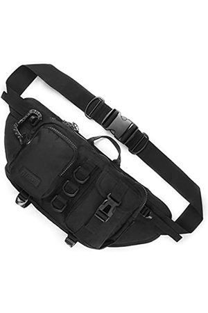 Fitdom Tactical Sling Bag for Men. Made from Heavy Duty Techwear Nylon & Built Tough for Outdoor. Also Use As EDC, Shoulder Backpack, Fanny Waist Pack