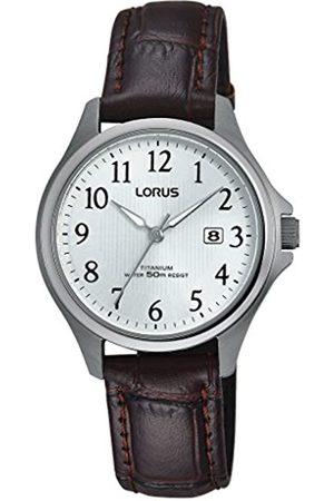 Lorus Klassik Damen-Uhr Titan mit Lederband RH727BX9