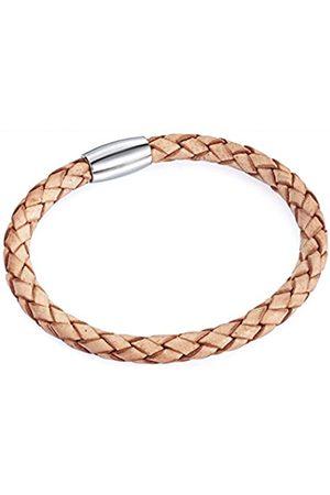Rafaela Donata Unisex-Armband Edelstahl Leder 17 cm - 609070042