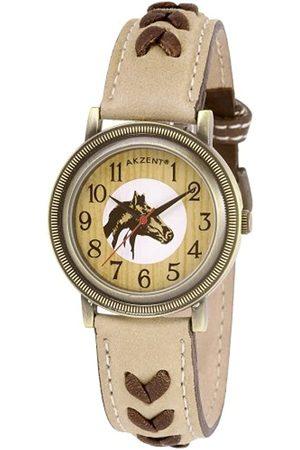 Akzent Damen-Uhren mit Echtlederband 194120000003
