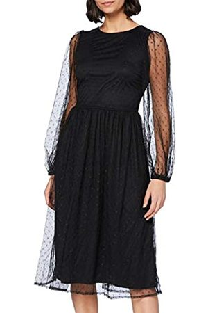 YAS Damen LISSO LS MIDI Dress Kleid, Black