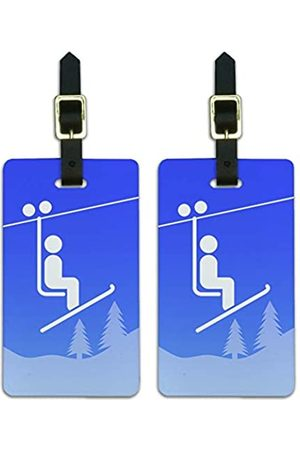 Graphics and More Skilift Symbol im Schneekoffer, Skifahren, Ausweis, Handgepäckkarten
