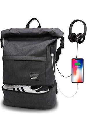 ITSHINY Wasserdichter Laptop-Reiserucksack, großer College-Rucksack, Anti-Diebstahl-Rucksack mit USB-Ladeanschluss für Jugendliche, Herren und Damen, passend für 39,6 cm (15