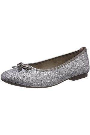 Soft Line Damen 22163 Geschlossene Ballerinas, (silver Glam.)