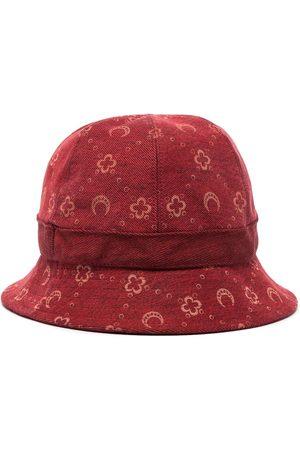 Marine Serre Herren Hüte - Moon pattern denim bucket hat