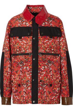 Burberry Gefütterte Jacke mit Blumen-Print