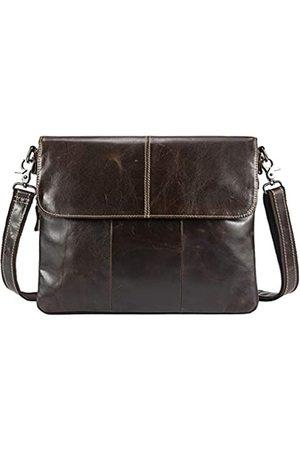 Hebetag Aktentasche aus Leder für Herren Business Reisen Outdoor Crossbody Schulter Pack Casual Clutch Handtasche Daypack für iPad Air
