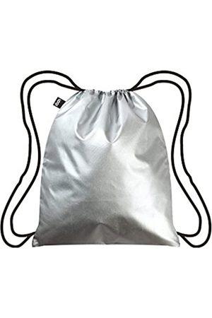 Loqi METALLIC Silver Backpack: 43.5 x 34cm