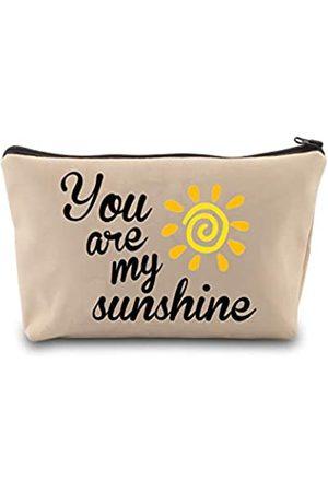 """LEVLO Sunshine Make-up-Tasche """"You Are My Sunshine"""" mit Reißverschluss"""