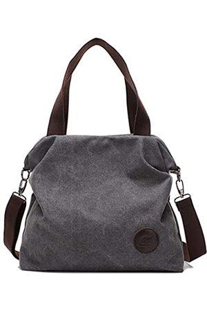 QIXINGHU Baumwoll-Leinen-Einkaufstasche, Schultertasche, leger, Handtasche, Reisetasche, geräumig, langlebig, leicht