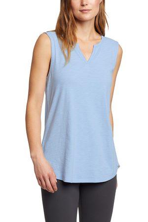 Eddie Bauer Damen T-Shirts, Polos & Longsleeves - Gate Check Top mit Y-Ausschnitt Damen Gr. XS
