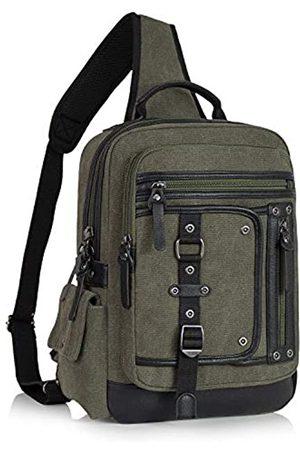 Schkleier Herren Crossbody Sling Bag Retro Messenger Bag Laptop Rucksack Schultertaschen für Reisen Business Casual und Schule