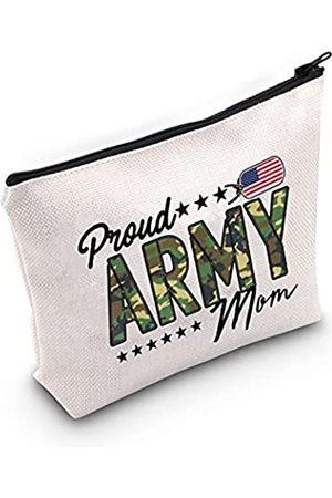LEVLO Kosmetiktasche für Mütter, militärisches Design, mit Reißverschluss, für militärische Mütter, Marineblau, Luftwaffe
