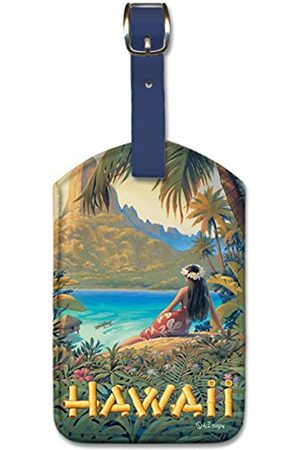 Pacifica Island Art Leatherette Luggage Baggage Tag - Hawaii by Kerne Erickson