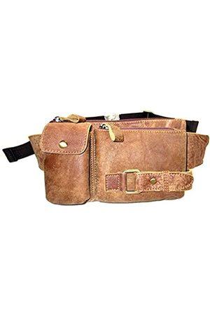 HUAMEIBANG Gürteltasche aus echtem Leder für Männer und Frauen, für Reisen, Outdoor, Handy, Geldbörse