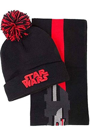 Difuzed Herren Darth Vader Beanie & Scarf Gift Winter-Zubehr-Set