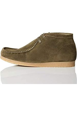 FIND FIND Mokassin Boots, (Green (Suede)