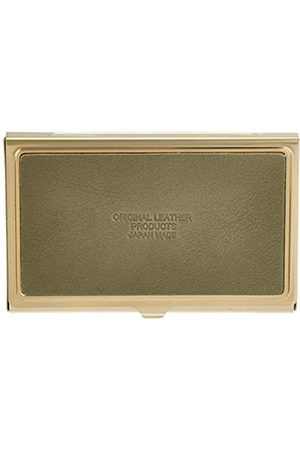 Naniwa Leather Tochigi Leder Metall Kartenetui (Braun) - 4589542632154