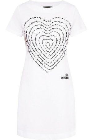 Love Moschino Dress with logo , Damen, Größe: 40 IT