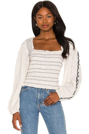 Free People Maggie Embroidered Top in . Size M, S, XS.