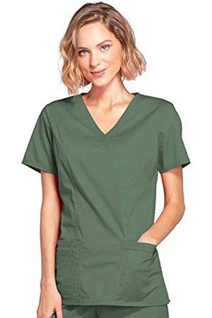 Cherokee Women's Women's Workwear Scrubs Core Stretch Mock Wrap Top, Olive