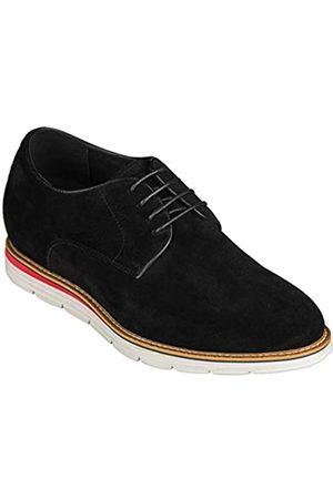CALTO Herren unsichtbare Höhensteigerung Schuhe – Nubuk Leder Schnürer Casual Derby – 8,1 cm größer – Y4222