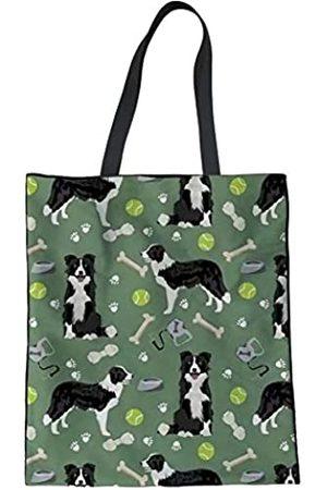 Buybai Wiederverwendbare Einkaufstasche aus Segeltuch für Damen, Einkaufstasche, Schultertasche, Buchtasche