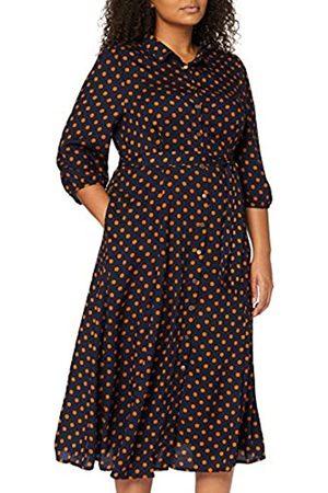 Mela Damen London-Polka DOT Shirt Dress Lässiges Kleid