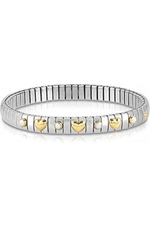 Nomination Damen Armbänder - Damen-Armband Edelstahl Perle weiß 21 cm - 044610/007