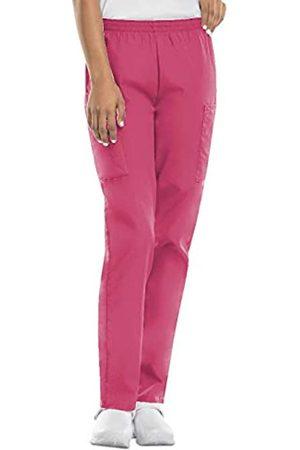 Cherokee Damen Cargohosen - Damen-Cargo-Peelinghose mit elastischer Taille - Pink - Medium Zierlich