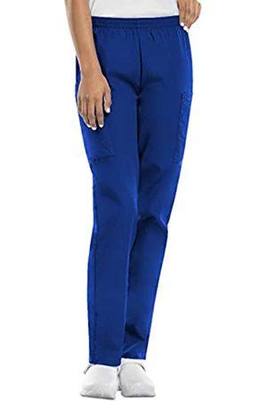 Cherokee Women's Workwear Elastic Waist Cargo Scrubs Pant, Royal