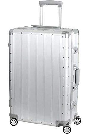 Alumaxx 45174 - Reisetrolley Auriga, Reisekoffer mit beidseitiger Packmöglichkeit, Rollkoffer aus Aluminium, Trolleykoffer mit 4 doppelten 360° Leichtlaufrollen