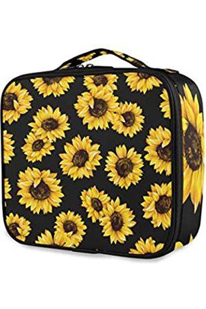 CaTaKu Sunflower Van Gogh Kosmetiktasche Kulturbeutel Multifunktionstasche Kosmetiktasche Tragbar Make-up Wasserdicht Reise Große Öffnung Organizer Tasche für Damen & Herren