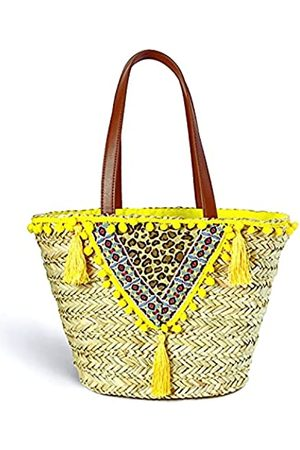 KOSNOR Damen Strandtaschen - Strohbeutel für Damen, Bohemian-Sommer-Strandtasche