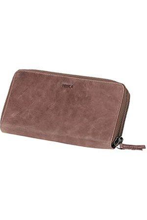 Mika 42174 - Damengeldbörse aus Echt Leder, Portemonnaie im Querformat, Geldbeutel mit 9 Kartenfächer, 2 Scheinfächer und Münzfach mit Reißverschluss, Brieftasche in , ca. 19,5 x 10