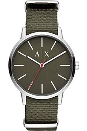 Armani Exchange Herren Analog Quarz Uhr mit Nylon Armband AX2709