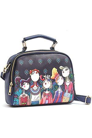 VISMIINTREND Fashion PU Umhängetasche, Messenger Bag, Weekend Einkaufstasche, bedruckt